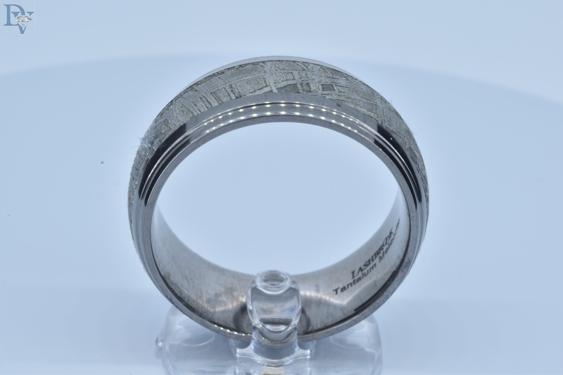 Designer-Lashbrook-Men's Tantalum Ring.  Meteorite with Polished Edges.  Sku#697-00332